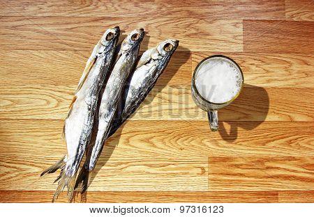 Beer With Dried Fish.
