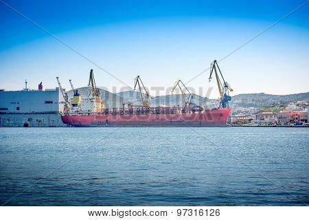 Shipyard In Syros Island ,greece