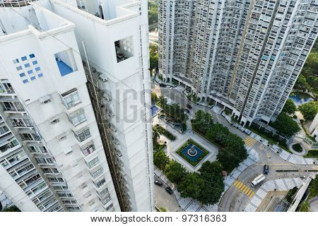 High rise building from top