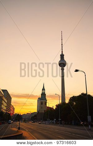 Berlin At The Sunrise