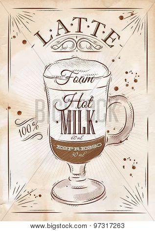 Poster Latte Kraft