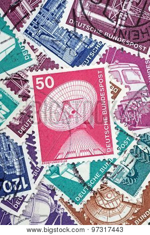 An Old German Stamp About Earth Stations (editorial)