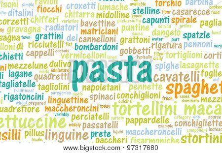 Pasta Types and Assorted Variety of Pastas