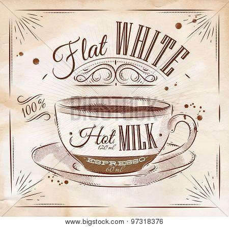 Poster Flat White Kraft