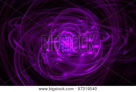 Abstract purple swirl on the basis of the dark. Fractal art graphics