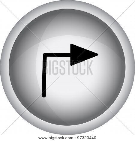 Arrow Sign. Vector Icon