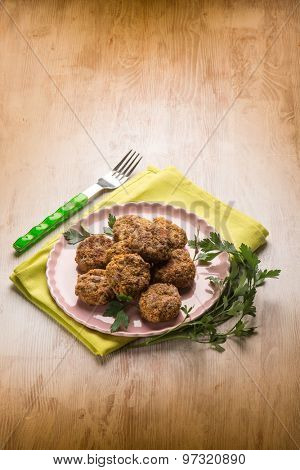 meatballs with parsley