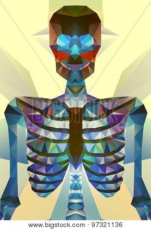 Abstract polygonal skeleton.