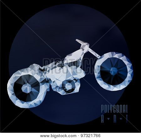 Abstract  polygonal motorbike