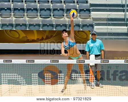 Rome, Italy - June 16 2011. Beach Volleyball World Championships. Greece Woman Player