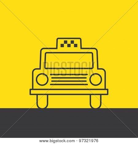 Taxi Car Vector Illustration