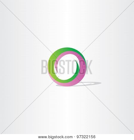 Purple Green Letter O Logo Design Vector