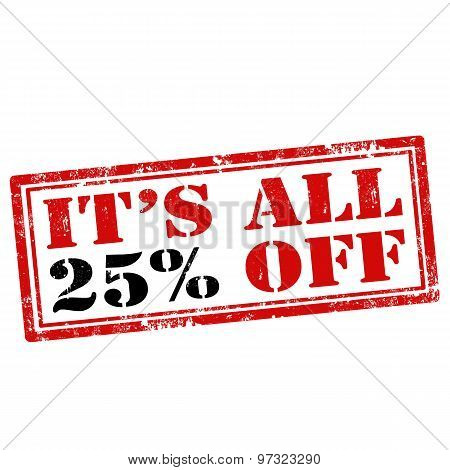 It's All 25% Off