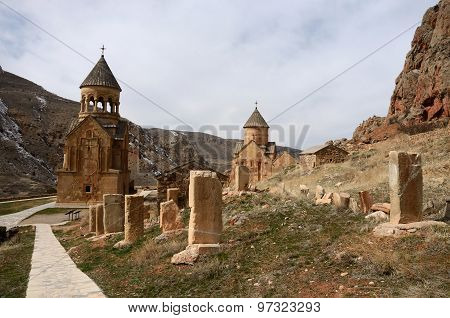 Surb Astvatsatsin And Surb Karapet Church With Stone Crosses,noravank Orthodox Monastery, ,armenia