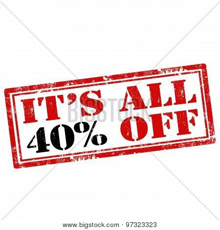 It's All 40% Off