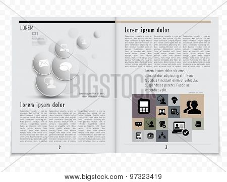 Journal or press layout magazine, vector