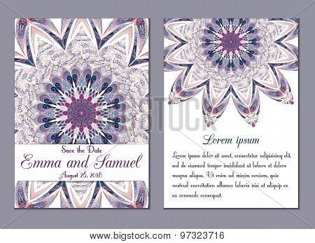 Save The Date Ornate Frame. Easy To Edit. Perfect For Invitations Or Announcements