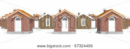 Architecture Model Houses Isolated On White