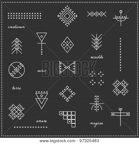 Set Of Geometric Hipster Shapes 9711Black