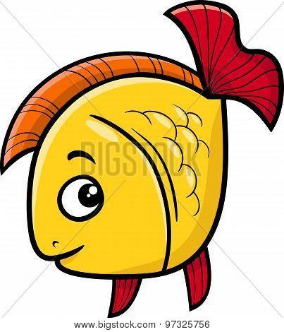 Golden Fish Cartoon Illustration