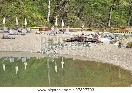 Sochi. The Urban-type Settlement Of Krasnaya Polyana. Artificial Beach