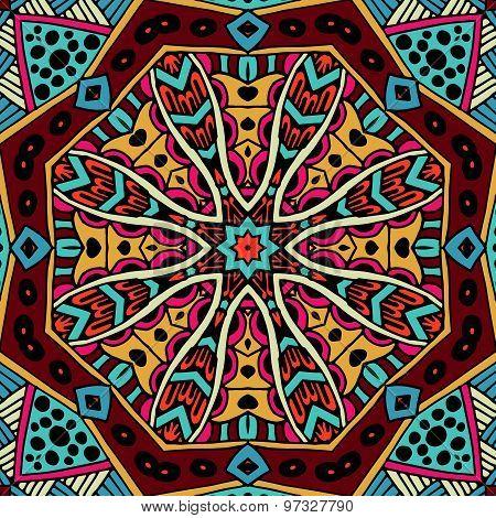 Abstract geometric oriental vintage ethnic seamless pattern ornamental