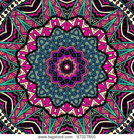 Abstract geometric  ethnic seamless pattern ornamental