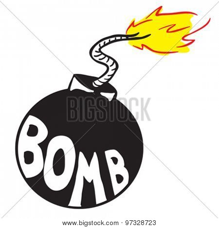 cartoon bomb