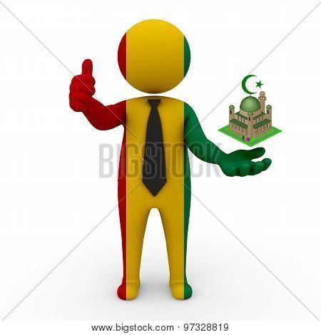 3d businessman people Guinea - Muslim mosque and Islam in Guinea