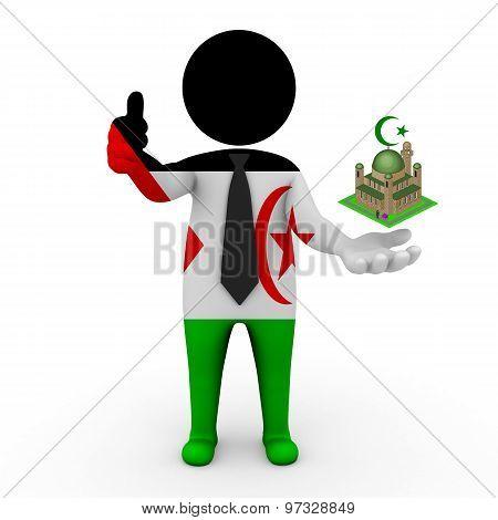 3d businessman people Western Sahara - Muslim mosque and Islam in Western Sahara