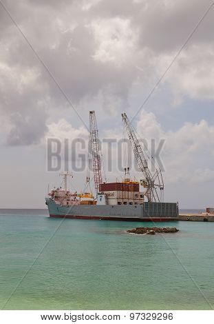 Tropic Mist Ship In George Town Port Of Grand Cayman