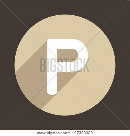 Letter P Logo Flat Icon Style. Vector
