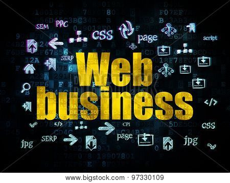 Web development concept: Web Business on Digital background