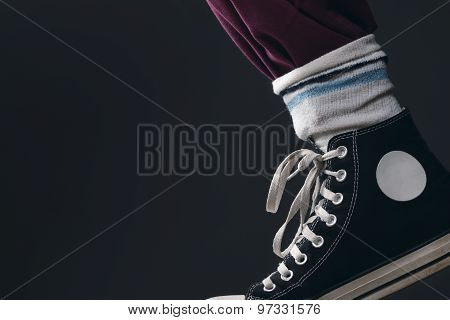 Someone Wearing The Socks Over The Pants