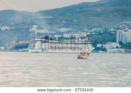 Yalta, Ukraine - April 22. Msc Lirica In Yalta