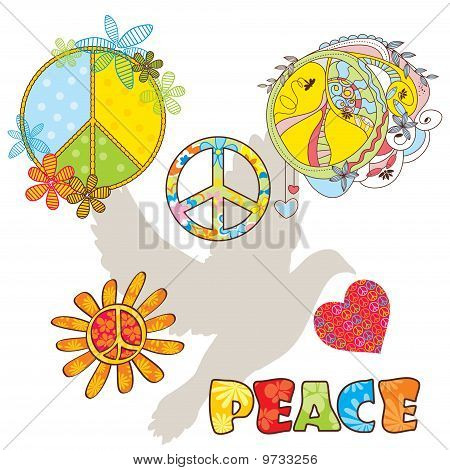 Set Of Various Peace Symbols
