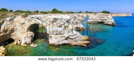 Coastline in Salento (southern Italy)