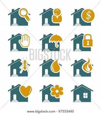 House Security And Service Icons