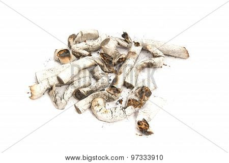 Heap Of Cigarette Butts