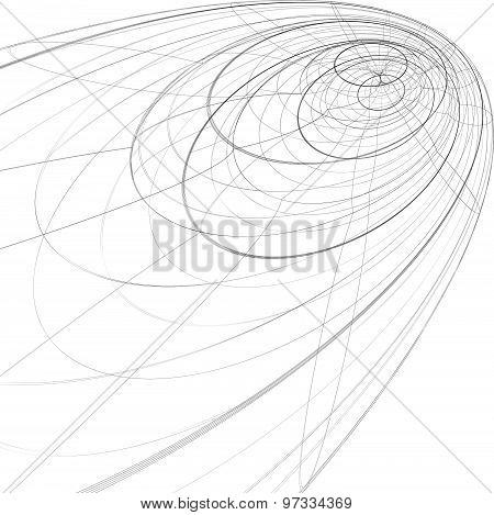 Scientific and technology monochrome stylish background, abstract three-dimensional figure