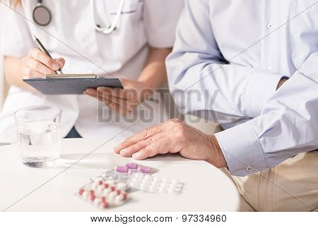 Medicaments On The Table