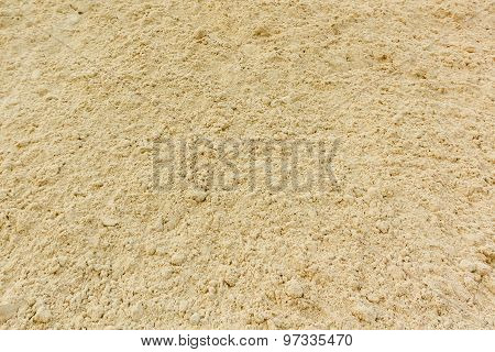 Background Of Fine River Sand. Sand Texture