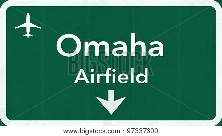 Omaha Usa Airfield Highway Road Sign