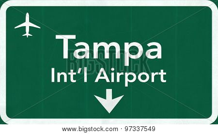 Tampa Florida Usa International Airport Highway Road Sign