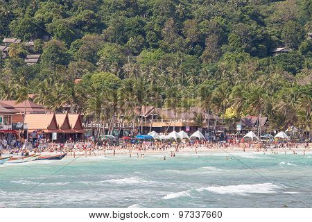 Haad Rin Beach Before The New Year Celebrations. Island Koh Phangan, Thailand