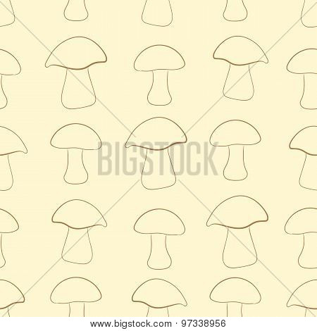 Seamless contours of mushrooms