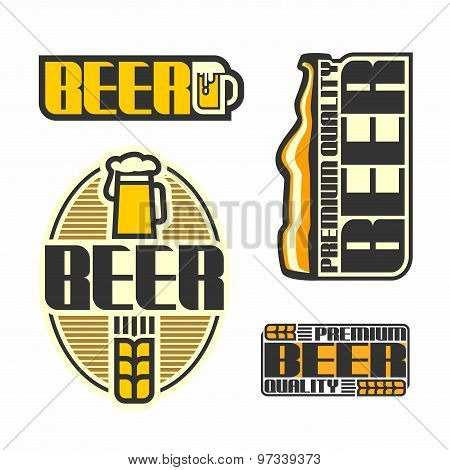 The images on the beer theme