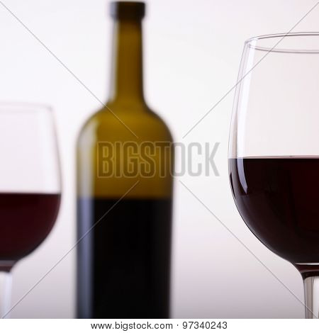 Bottle And Two Glasses