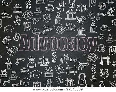 Law concept: Advocacy on School Board background