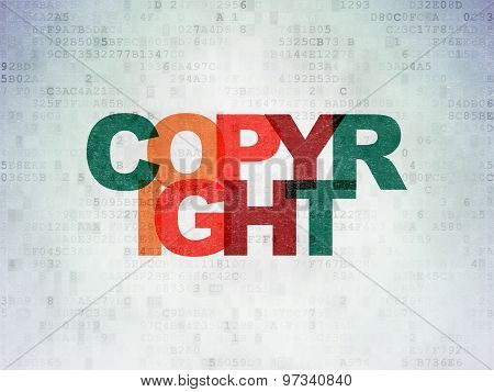 Law concept: Copyright on Digital Paper background